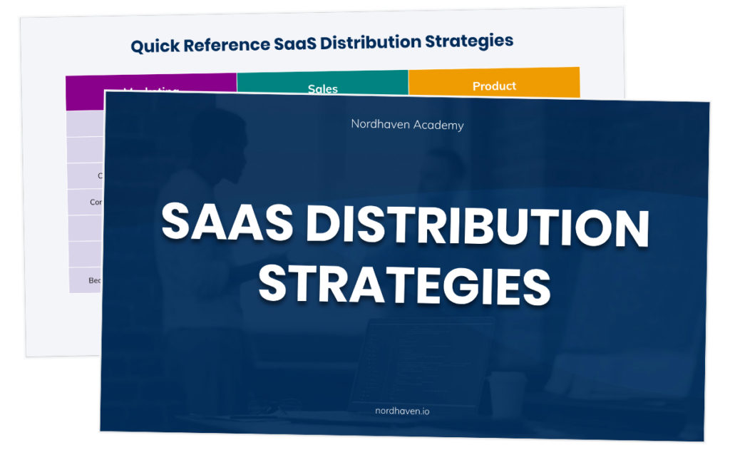 SaaS distribution strategies