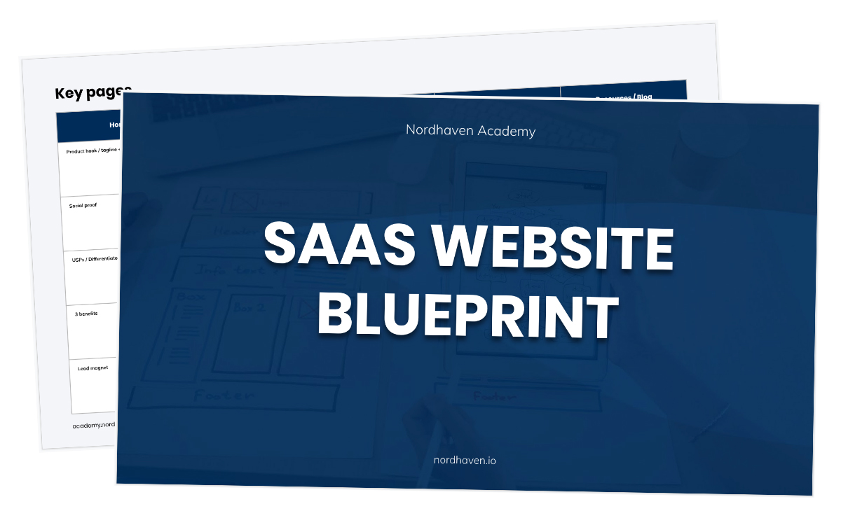 saas website blueprint
